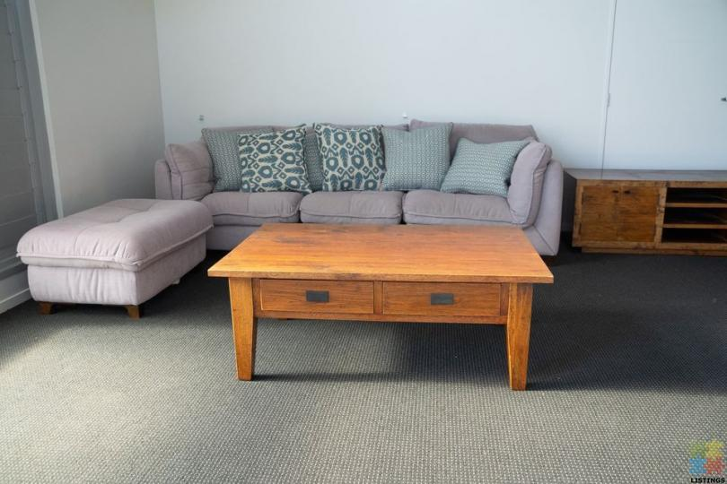 Solid French Oak Coffee Table - 1/2