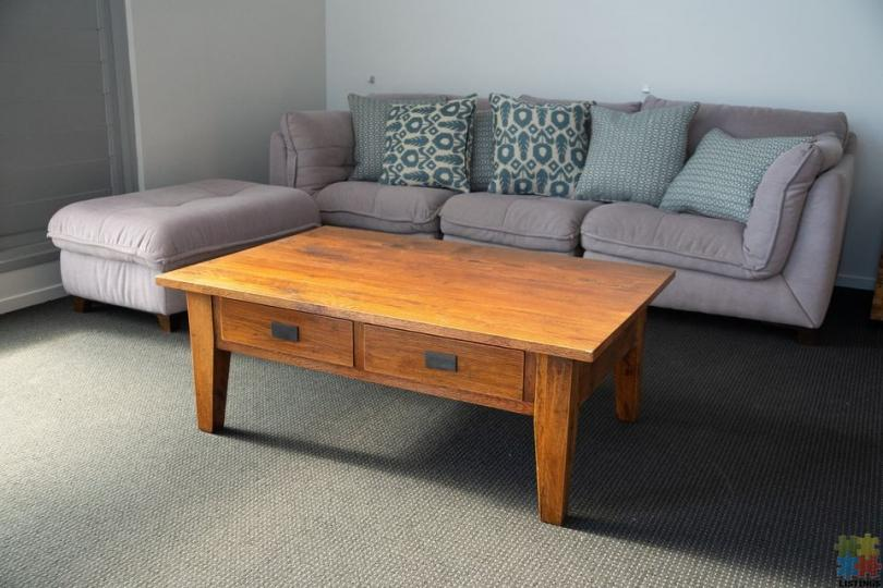 Solid French Oak Coffee Table - 2/2