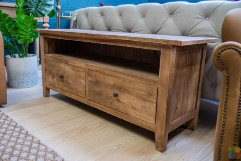 TV Unit Reclaimed Elm With 2 Drawer