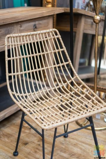 Wicker PE Dining Chair Natural - 1/2
