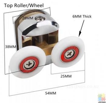 Shower Door Roller - DR01 Double Top or Bottom