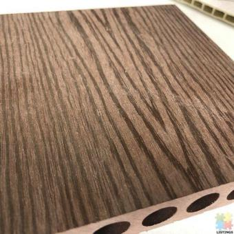 Wood Plastic Composite decking with dark chocolate and grey