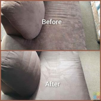 Truckmount carpet upholstery steam cleaning