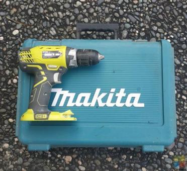 Ryobi drill and Makita box
