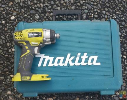 Ryobi impact driver and Makita box