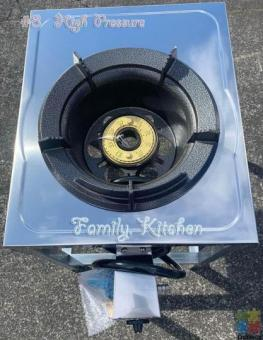 High pressure gas stove with stand