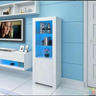 *sue-e* Brand New white gloss display shelf with RGB LED
