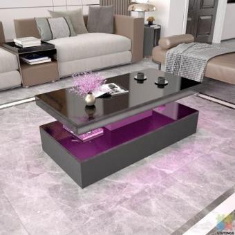 *sue-e* Brand new gloss black coffee table with RGB lighting (MLC07)