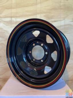 SPECIAL DEAL! STEELIES 16x8 6x139 0 Offset Gloss Black