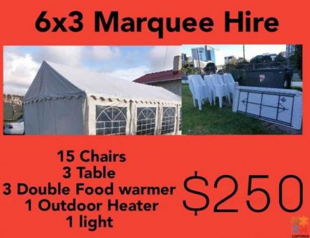 6X3 Marquee Combo Hire