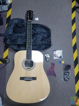 Acoustic Guitar Combo: Guitar, Tuner, Strap