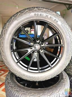 20x9.5 6x139.7 RVE wheels with Nexen Roadian AT tyres