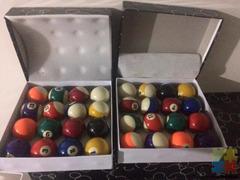 Brand new pool balls 2 1/4 inch