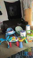 baby walker and toys and stuff need gone asap moving overseas not selling separate