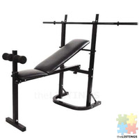 Weight Bench with Bar brand New