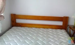 Excellent condition Queen Bed Slat bed with mattress