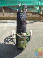 Protech Golf Bag, Trundler & Clubs